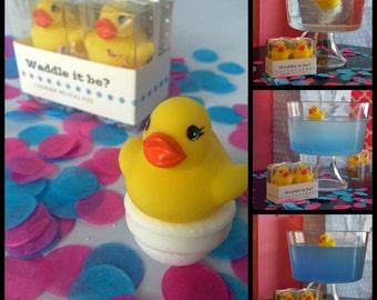 Waddle it Be? Gender Reveal Rubber Duck Fizz
