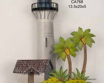 Key West Lighthouse Metal Wall Art CA768