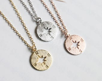 Compass necklace, Wanderlust necklace, Friendship jewelry, Compass jewelry, Nautical Jewelry, Wanderlust jewelry, BFF gift, Christmas gift