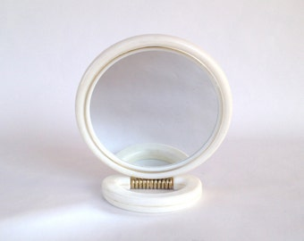 Vintage bathroom Mirror / small mirror to put on the table / makeup or hairstyle