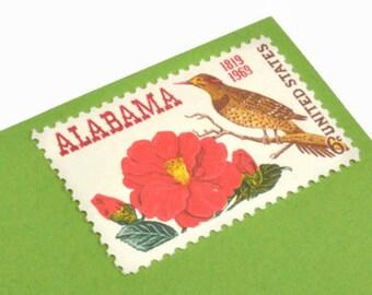 Pack of 25 Unused Alabama Stamps - 6c - Vintage 1969 - Unused Postage - Quantity of 25