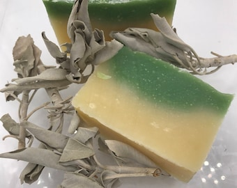 Handmade Lemon Sage Scented Soap