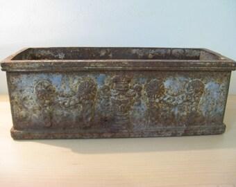 Antique French iron Jardinière - rectangular ... c. 1880!