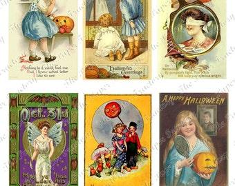 Vintage Halloween Postcards No.11 Digital Collage Sheet