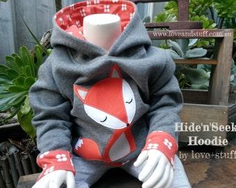 Hide'n'Seek Hoodie PDF Pattern in sizes 0000-2