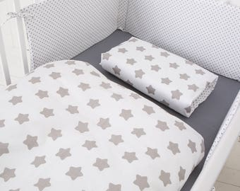 "Puckdaddy Bed Linen ""stars/ dots white"", 100x135cm"
