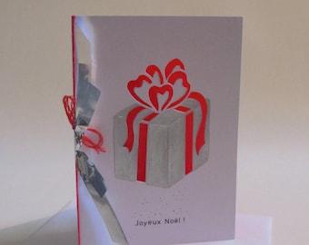 Christmas card original unique e.g. with cuts