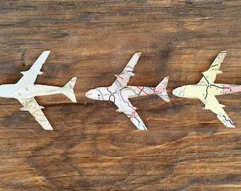Vintage Map Airplanes