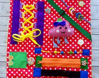 Dementia blanket Fidget blanket for dementia activity Alzheimer's blanket Therapy toy Sensory board baby Activity blanket Sensory blanket