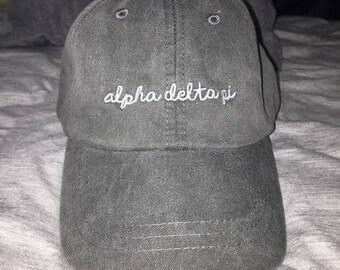 Alpha Delta Pi  Script Sorority Hat