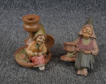Vintage Set Tom Clark Mrs. Wink 1983 And Jackie B. Quick 184 Resin Figurines
