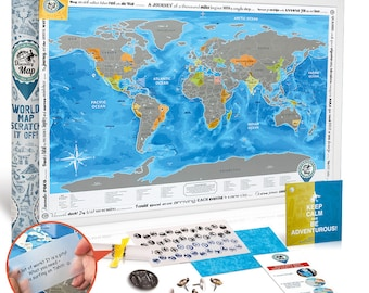 scratch off world poster large detailed world map with stickers stylish design quality