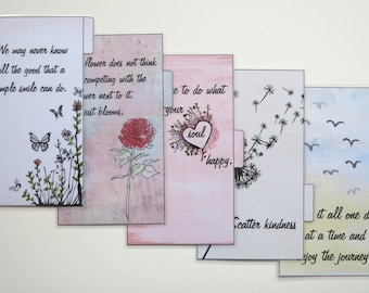 Personal Size Filofax 'Quotes' dividers - handmade and laminated