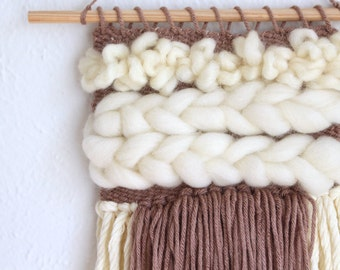 Ivory Fluff Handwoven Tapestry