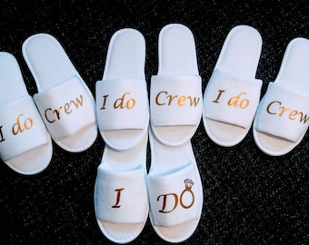 Bridal Shower Gifts / I do crew slippers / Bridesmaid Slippers