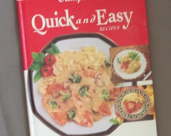 Campbell's cook book, Soup recipes , Recipe book ,Vintage cook book , Quick and easy recipes , hard back book
