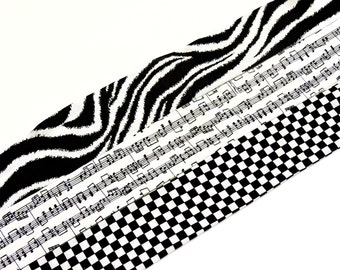 Neck Cooler Cooling Bandana Wrap Stay COOL Tie Body Head Heat Relief Eco Black n White Check Zebra Music Notes Scarf iycbrand