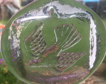 Pressed Glass Dove Sun Catcher