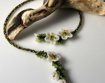 Cherry Blossom spring flower necklace