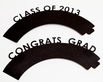 Graduation Cupcake wrappers - Set of 12