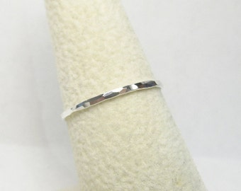 Single Sterling Silver Stacking Ring, Silver Stacking Ring, Silver Ring, Tiny Ring, Thin Ring, Made to Order