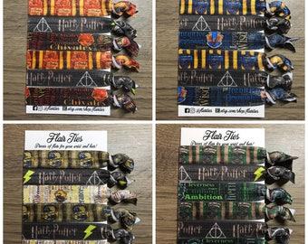 Wizard Inspired No Crease Hair Ties Hair Elastics Bracelet 5/8 inch FOE Harry - WWOHP Potter
