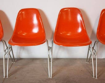 Herman Miller orange Eames shell chair