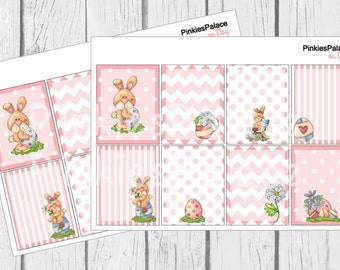 8 Planner Stickers Full Box Vertical Horizontal Easter Bunny Planner Stickers PS382d Fits Erin Condren Planners