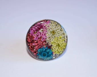 Real flowers ring