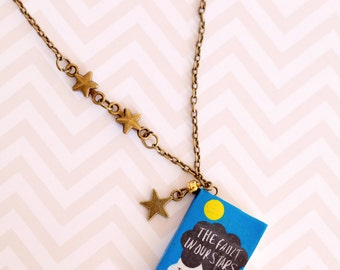 TFIOS Book Charm Pendant / The Fault In Our Stars Jewelry / Book charm / Miniature Book Pendant / The fault In Our Stars Inspired