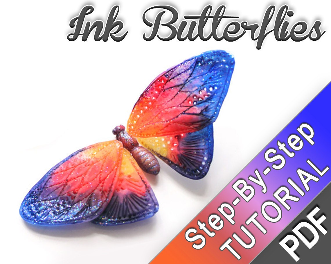 Ink butterfly polymer clay tutorial pdf tutorial zoom baditri Images