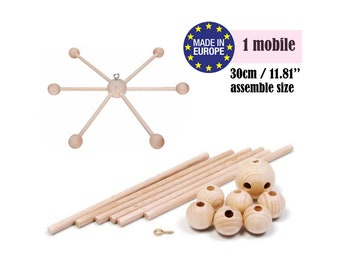 Baby Mobile, Wooden Mobile DIY Kit, Crib Mobile DIY, Wooden Mobile Baby, DIY Baby Mobile Kit, Crib Mobile Hanger, Nursery Mobile, Diy Mobile