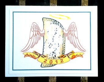 New Orleans fried pie Note Cards set of 5 blank w envelopes