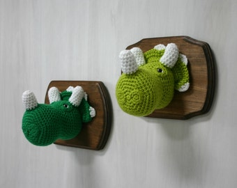 Crochet Taxidermy Triceratops