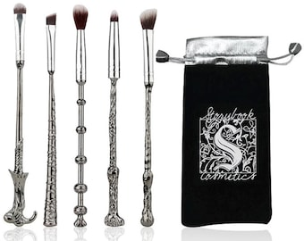 Harry Potter Magic Wand Makeup Brush, Cosmetic Brush Gift Set, Wizard Eye Shadow Brushes