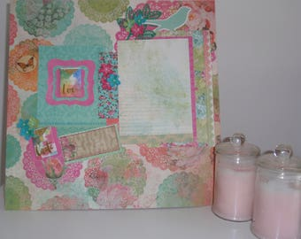 Handmade Scrapbook Page - Take Time to Smell the Flowers