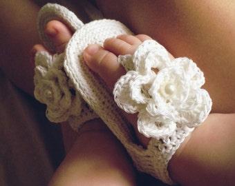 Summer sandals, Baby Sandals, Crochet Baby Shoes, Girl Sandals, Baby Flip Flops, Crochet Shoes, bottillons, girl crochet sandals flower
