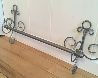 French style nickel finish towel bars
