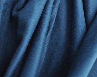 """Organic Cotton Interlock, 60"""" wide, Dark Blue"""