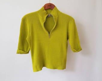 Vintage Lime Green Pullover