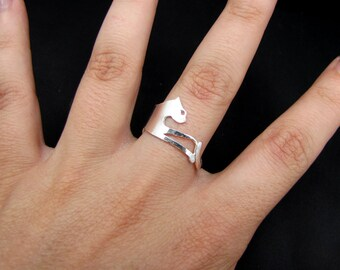 Sterling Silver Tatzelwurm ring