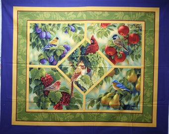 Bird Sanctuary wall hanging by Rosemary Millette for Springs Creative.  This is a fabric panel.