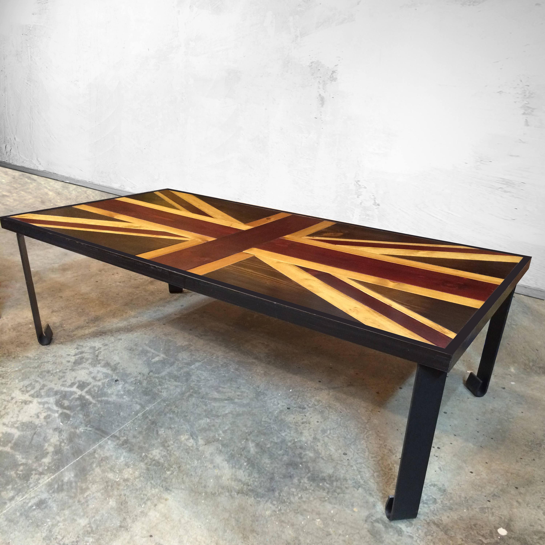 Union Jack Flag   British Flag   Weathered Reclaimed Wood Coffee Table Or  Desk   Reclaimed Wood Art   Modern Wood Wall Art   Wood Desk