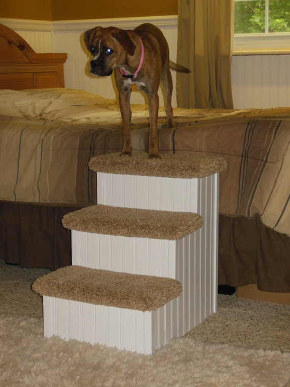 Pet Steps For Dogs 24 High Dog Stair Hampton Bay Wooden Furniture Handmade In USA