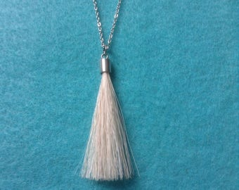 Horse hair pendant necklace