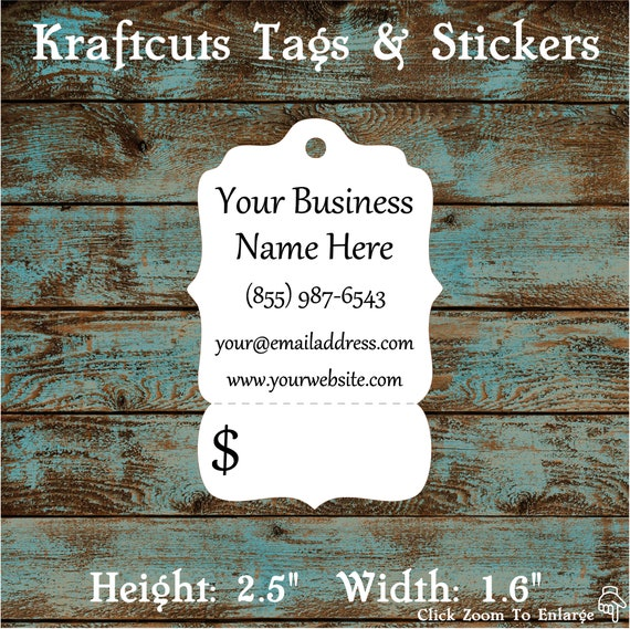 Price Tags - Victorian Hang Tags Perforated Custom #602 - Quantity: 30 Tags