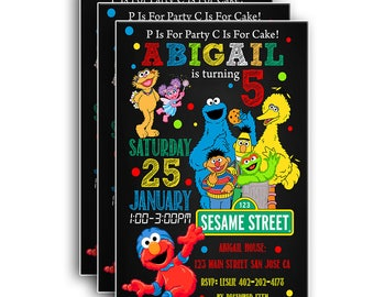 Sesame Street Invitation,Sesame Street Birthday,Sesame Street Birthday Invitation,Sesame Street party,Sesame Street Birthday Printable