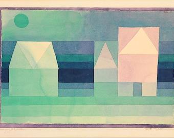 Paul Klee: Three Houses. Fine Art Print/Poster (5019)