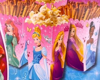Disney Princess Snack Boxes.....8 Ct..... Birthday Parties.....Favor Boxes.....Cinderella....Tiana....