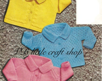 Baby's jackets knitting pattern. Instant PDF download!